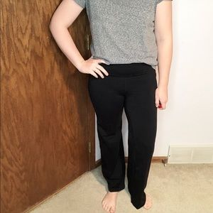 Athleta | Black Stretch Flare Leg Yoga Pants Med